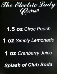 Electric Lady Cocktail