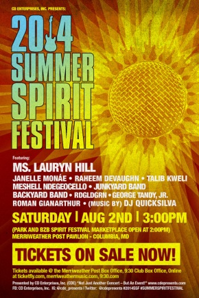 2014 Summer Spirit Festival at Merriweather Post Pavilion @cdepresents